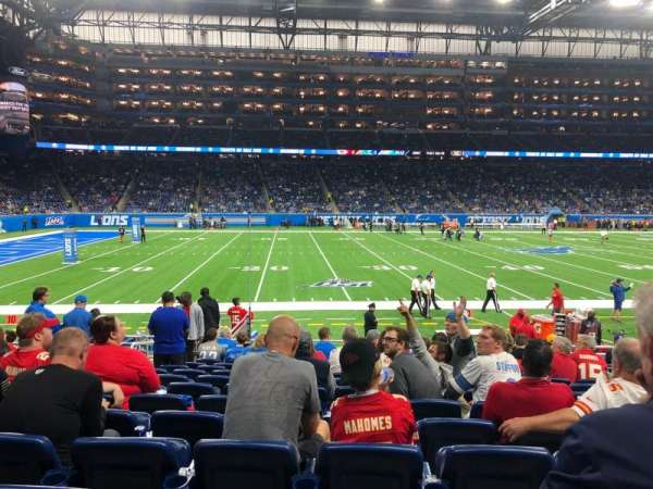 Ford Field, section: 125, row: 13, seat: 7