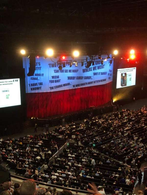 The SSE Hydro, section: 226, row: T