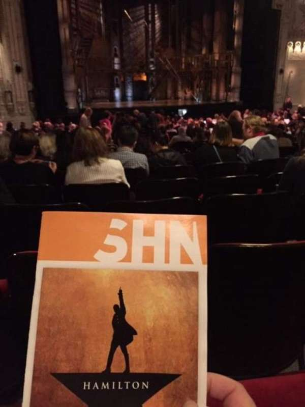 Orpheum Theatre (San Francisco), section: Orchestra L, row: BB, seat: 15
