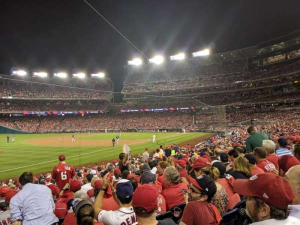 Nationals Park, section: 110, row: X, seat: 1