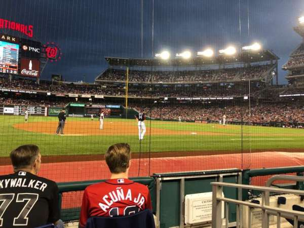 Nationals Park, section: 114, row: D, seat: 3