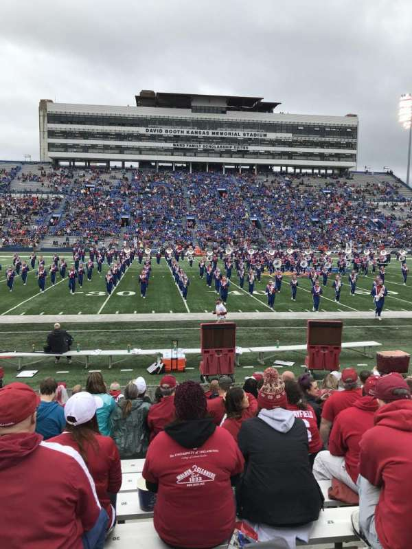David Booth Kansas Memorial Stadium, section: 22, row: 12, seat: 20