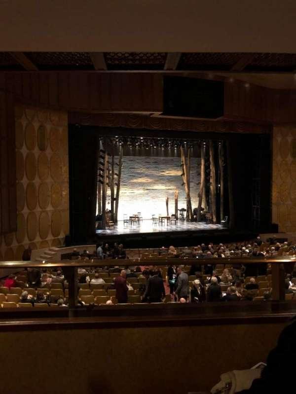 Fisher Theatre, section: Mezzanine, row: B, seat: 15
