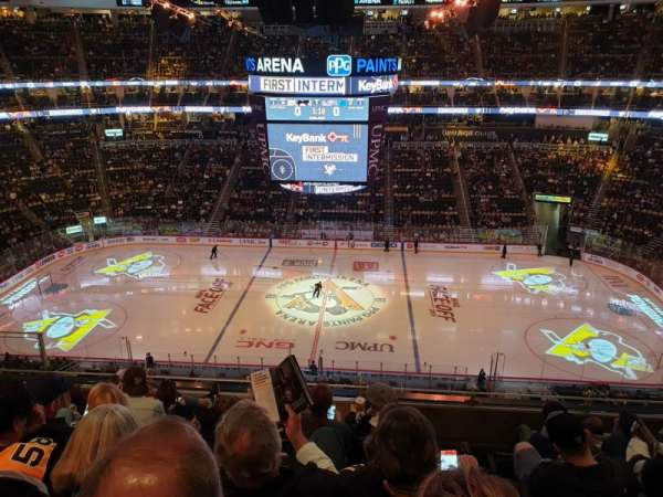 PPG Paints Arena, section: 201, row: F, seat: 7