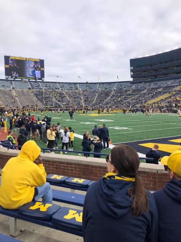 Michigan Stadium, section: 18, row: 4, seat: 33