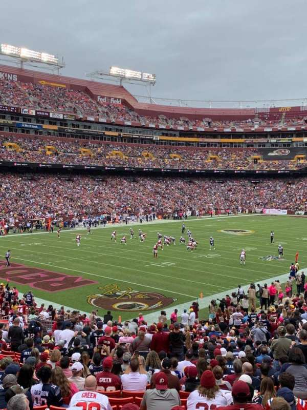 FedEx Field, section: 207, row: 1, seat: 11