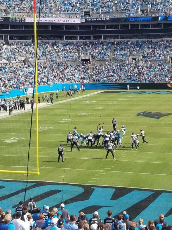 Bank of America Stadium, section: 256, row: 3, seat: 11