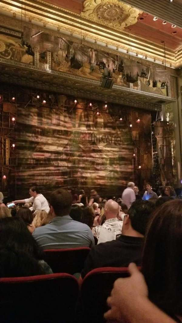 Hollywood Pantages Theatre, section: Orchestra LC, row: T, seat: 311