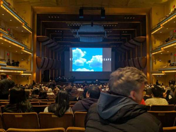 David Geffen Hall, section: orchestra, row: FF, seat: 106
