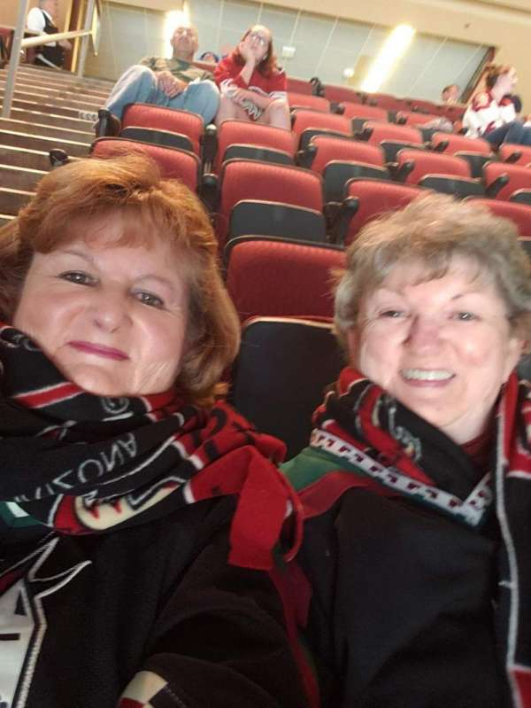 Gila River Arena, section: 113, row: R, seat: 18 19