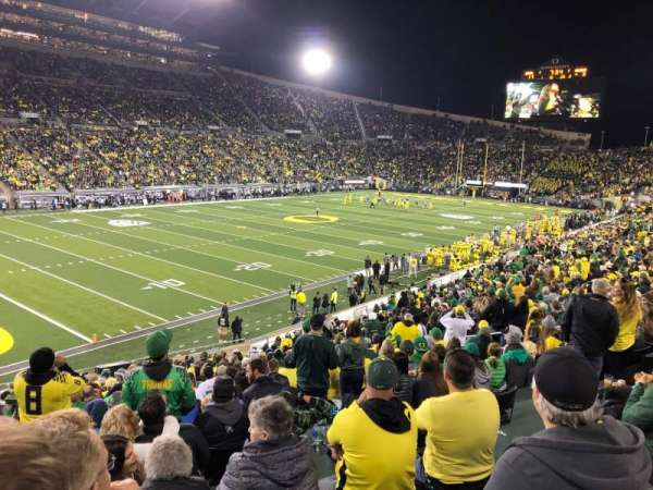 Autzen Stadium, section: 16, row: 33, seat: 18