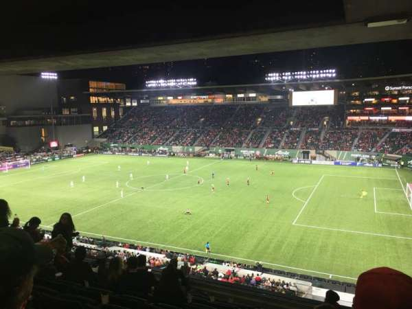 Providence Park, section: TR, row: H, seat: 10