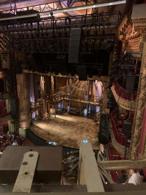 CIBC Theatre, section: Balcony R, row: A, seat: 12