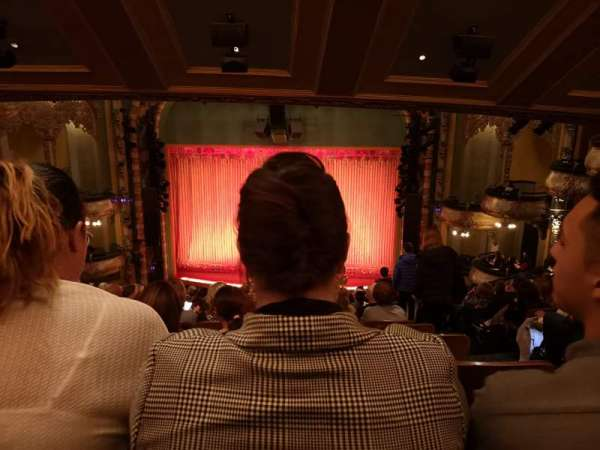 New Amsterdam Theatre, section: Mezzanine C, row: NN, seat: 102