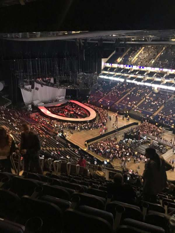 The O2 Arena, section: 407, row: R, seat: 618