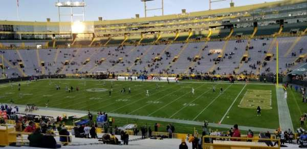 Lambeau Field, section: 130, row: 42, seat: 1