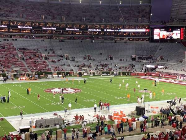 Bryant-Denny Stadium, section: K, row: 49, seat: 1