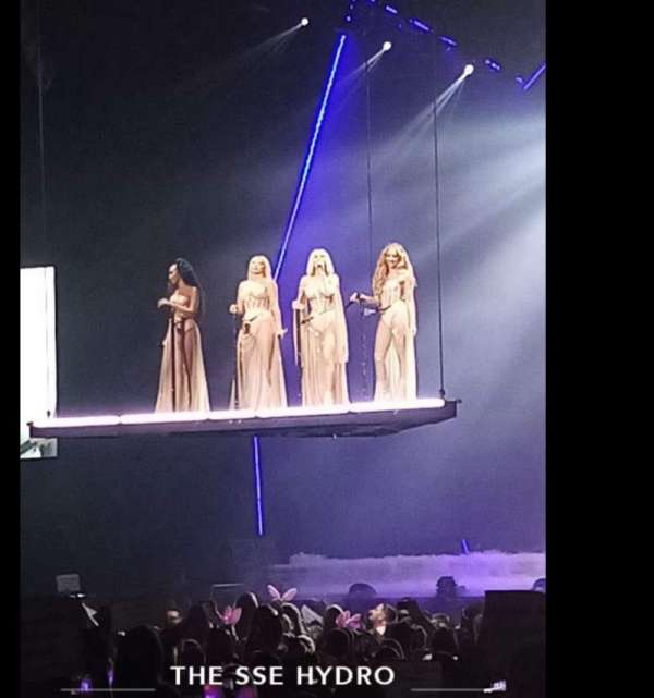 The SSE Hydro, section: 055, row: A, seat: A
