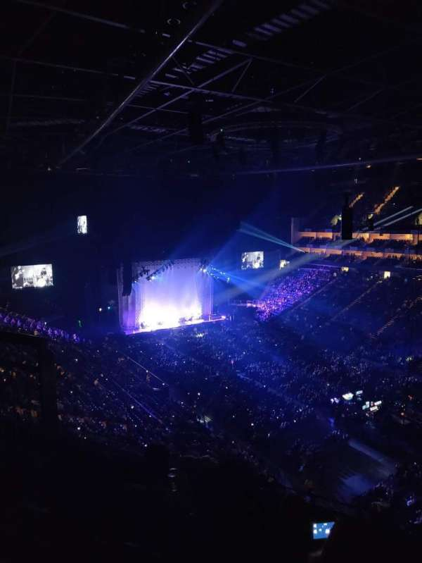 The O2 Arena, section: 407, row: D, seat: 617