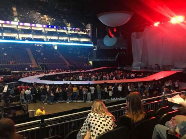 The O2 Arena, section: 111, row: L, seat: 345