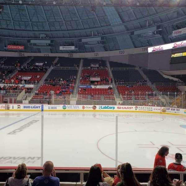 Bojangles' Coliseum, section: 110, row: F, seat: 10