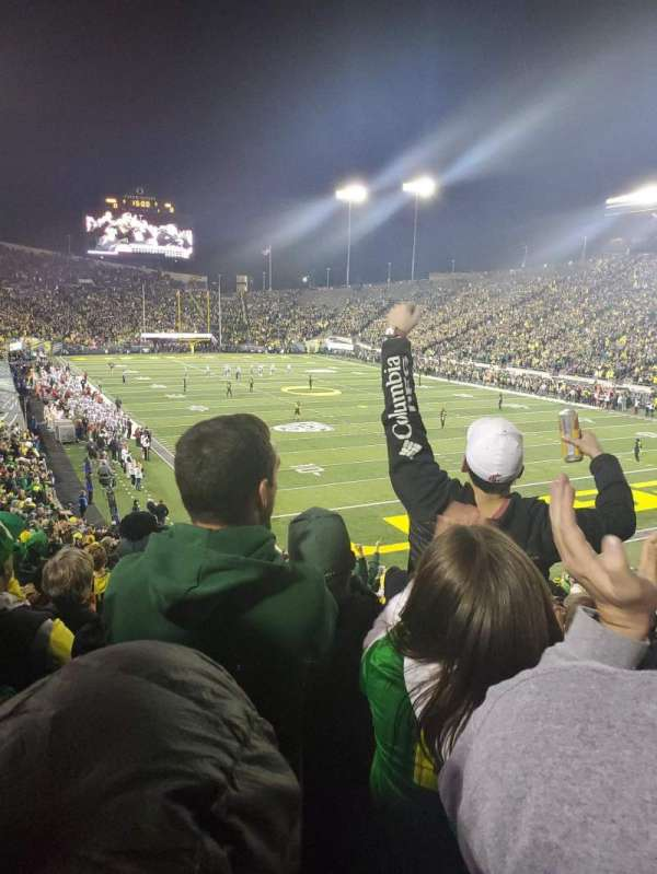 Autzen stadium , section: 24, row: 34, seat: 10