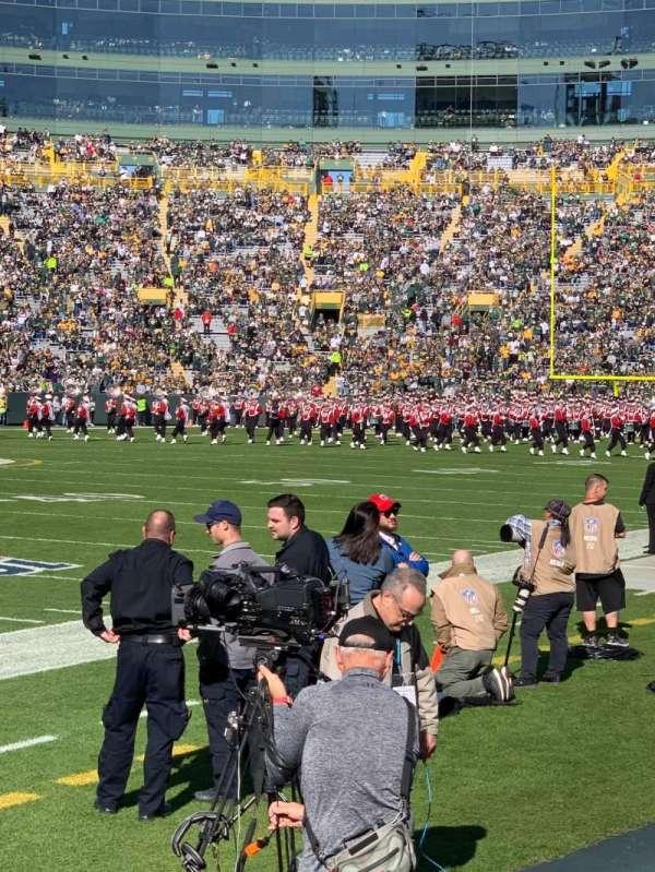 Lambeau Field, section: Field