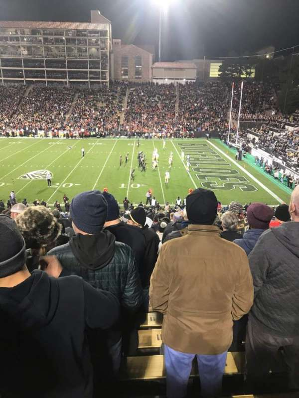 Folsom Field, section: 120, row: 45, seat: 10