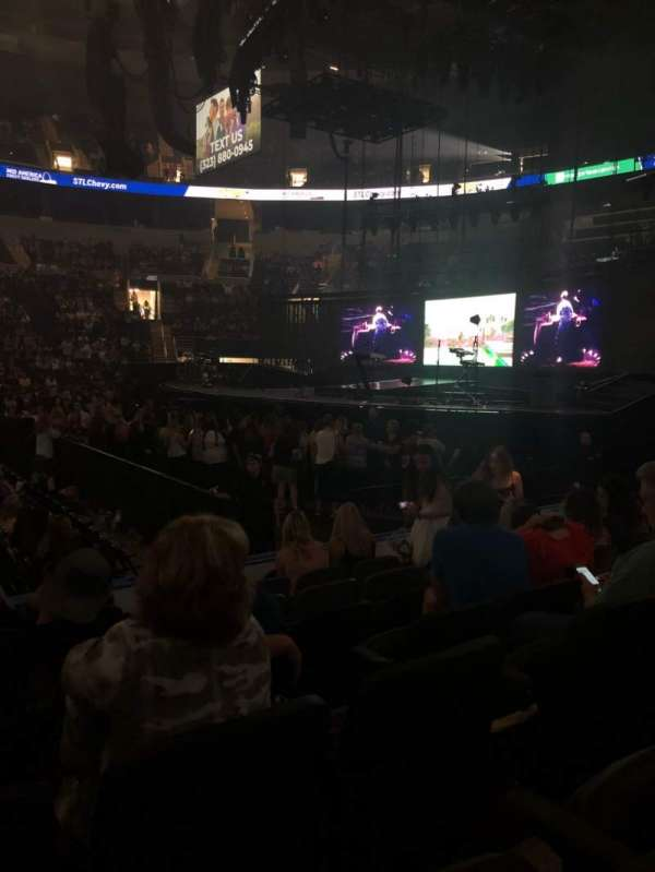 Enterprise Center, section: 102, row: G, seat: 9