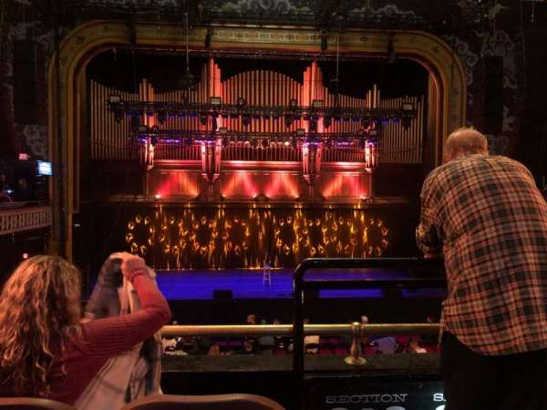 The Tabernacle, section: 202, row: C, seat: 1