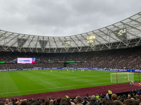 London Stadium, section: 118, row: 18, seat: 107