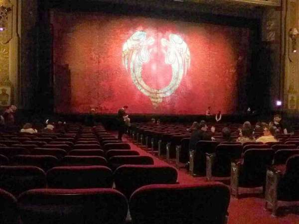 Hollywood Pantages Theatre, section: Orchestra LC, row: V, seat: 302