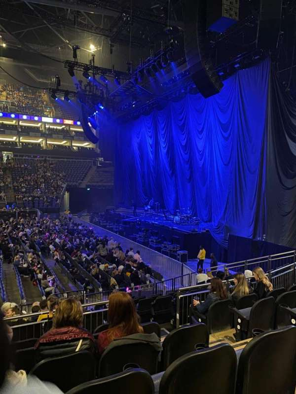 The O2 Arena, section: 112, row: N, seat: 376