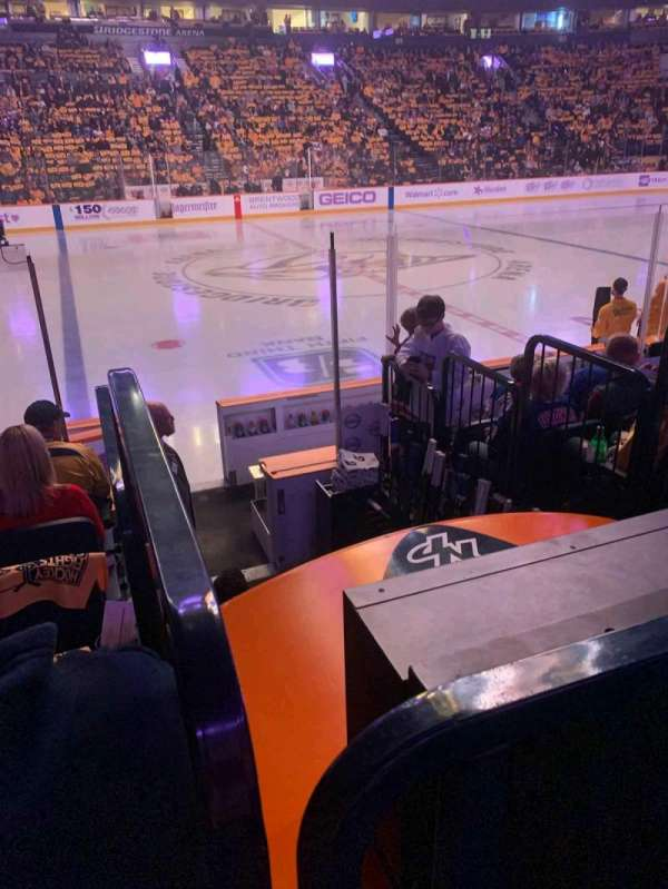 Bridgestone Arena, section: 115, row: HH, seat: 14