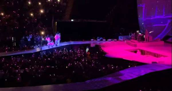 The O2 Arena, section: 111, row: Y, seat: 357