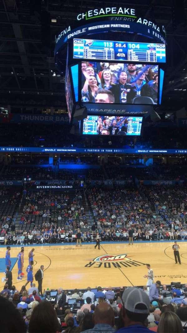 Chesapeake Energy Arena, section: 116, row: Q, seat: 9