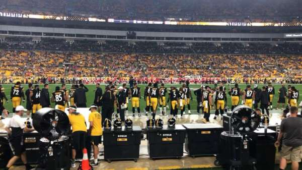 Heinz Field, section: 133, row: A, seat: 1