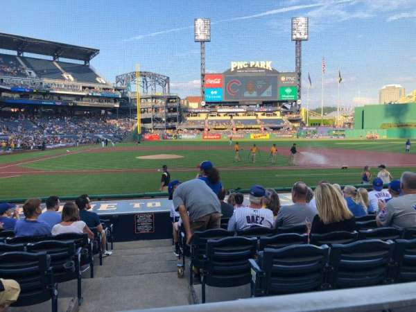 PNC Park, section: 112, row: A, seat: 4