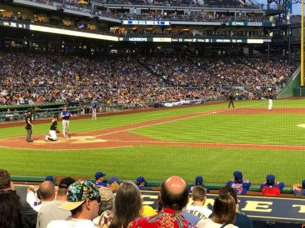 PNC Park, section: 112, row: A, seat: 4