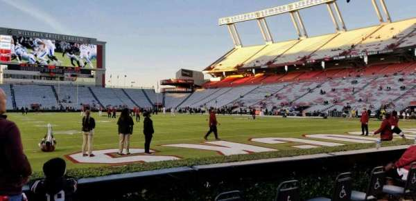 Williams-Brice Stadium, section: 11, row: 1, seat: 33
