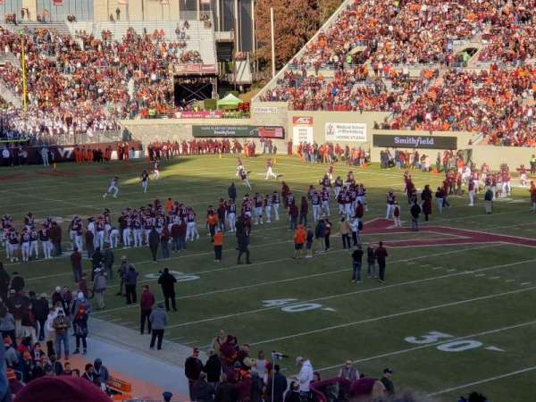 Lane Stadium, section: 18, row: kk, seat: 6