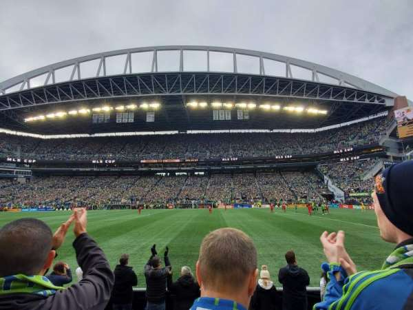 CenturyLink Field, section: 107, row: B, seat: 11