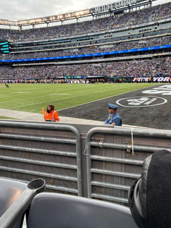 MetLife Stadium, section: 108, row: 2, seat: 5