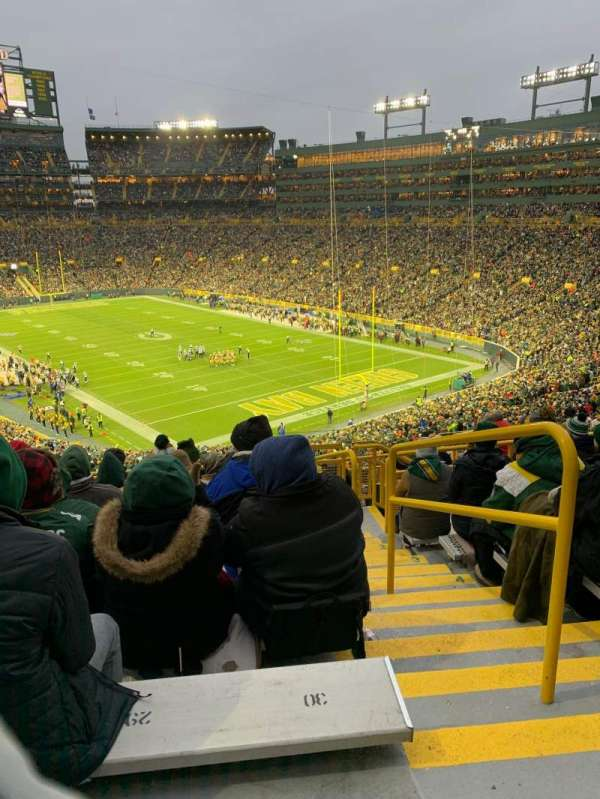 Lambeau Field, section: 307, row: 8, seat: 29 and 30