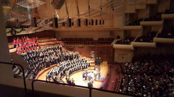 Davies Symphony Hall, section: 1st Tier, row: A, seat: B3