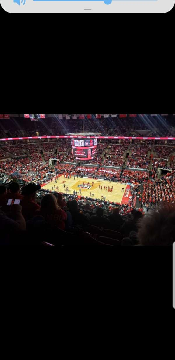 Value City Arena, section: 321, row: K