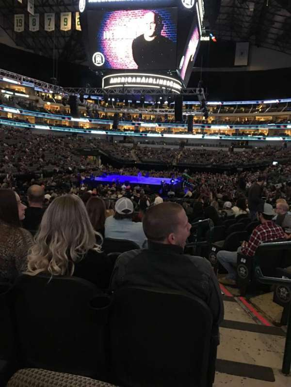 American Airlines Center, section: 124, row: K, seat: 2