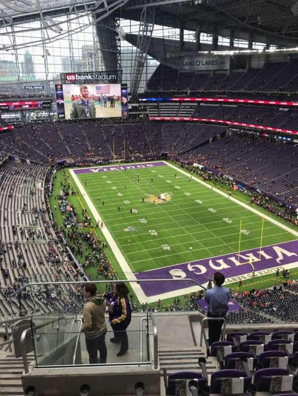 U.S. Bank Stadium, section: 330, row: 8, seat: 15
