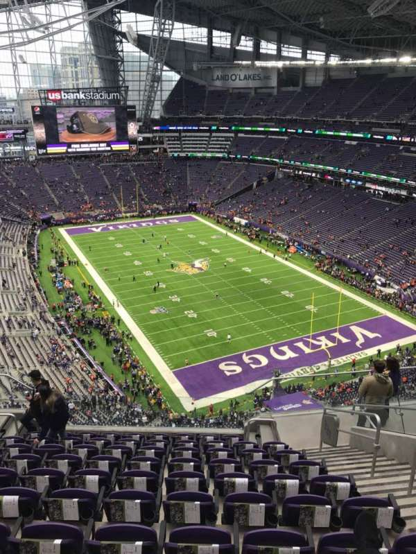 U.S. Bank Stadium, section: 331, row: 10, seat: 4