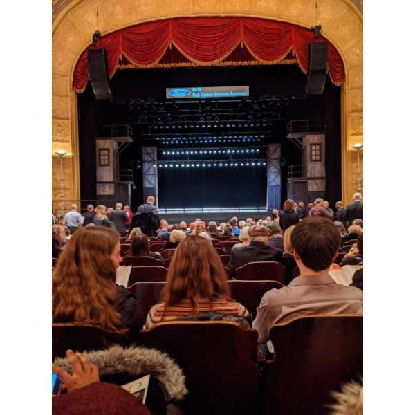 Detroit Opera House, section: Main Floor 1, row: S, seat: 208